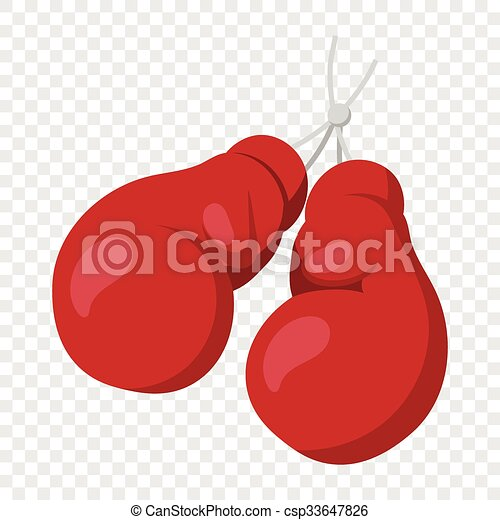 Boxing gloves on nail illustration - csp33647826