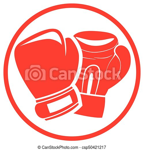 illustration of boxing gloves red icon vector clip art search rh canstockphoto com boxing gloves clipart free download boxing gloves clipart black and white