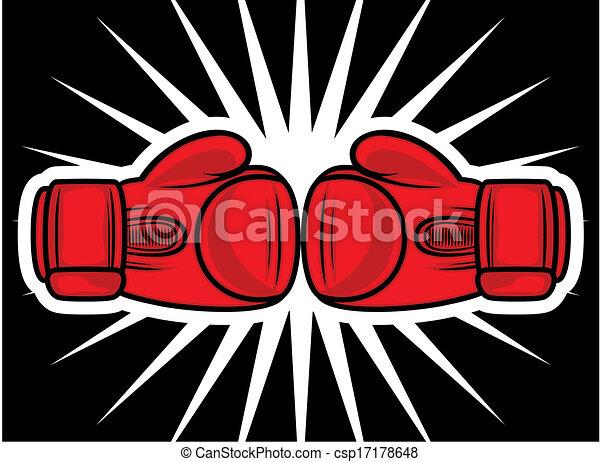 boxing gloves strike - csp17178648