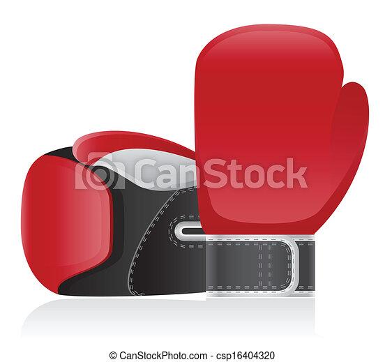 boxing gloves vector illustration - csp16404320