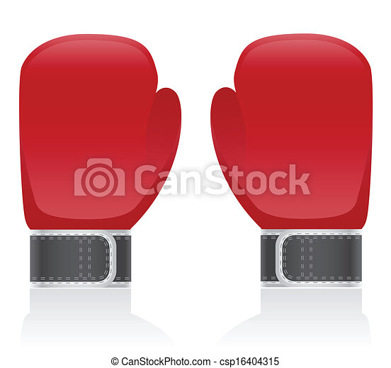 boxing gloves vector illustration - csp16404315