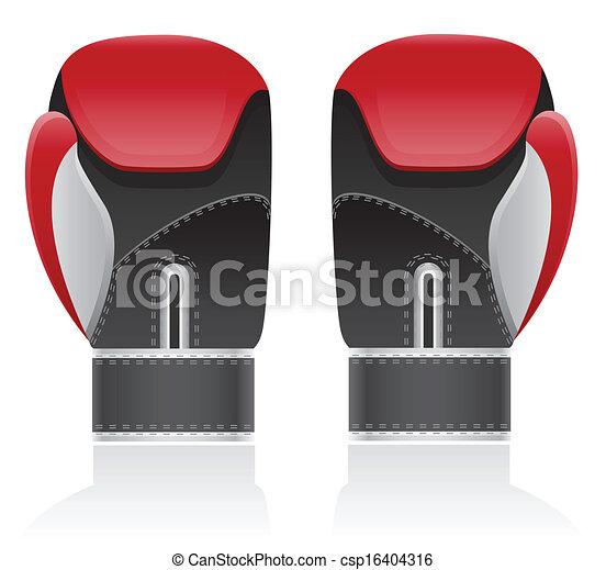 boxing gloves vector illustration - csp16404316