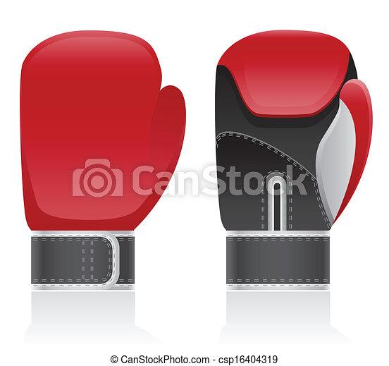 boxing gloves vector illustration - csp16404319