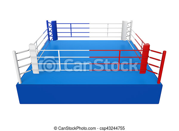 Boxing ring isolated on white background 3d render stock boxing ring isolated csp43244755 ccuart Images