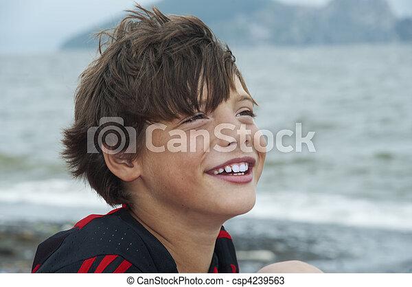 boy against the sea - csp4239563