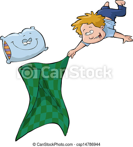 Boy and blanket - csp14786944