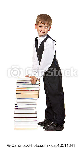 Boy and books. Back to school - csp10511341