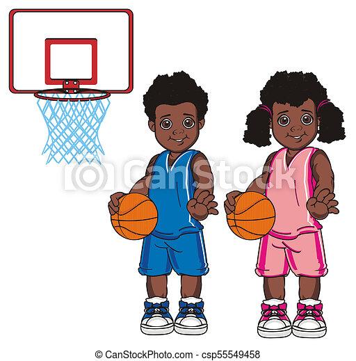 Happy Cute Kid Girl Play Basketball Royalty Free Cliparts, Vectors, And  Stock Illustration. Image 138518258.