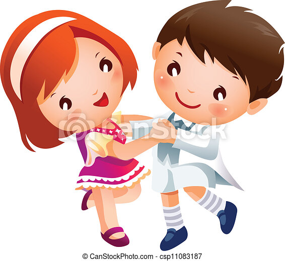 Boy and Girl dancing - csp11083187