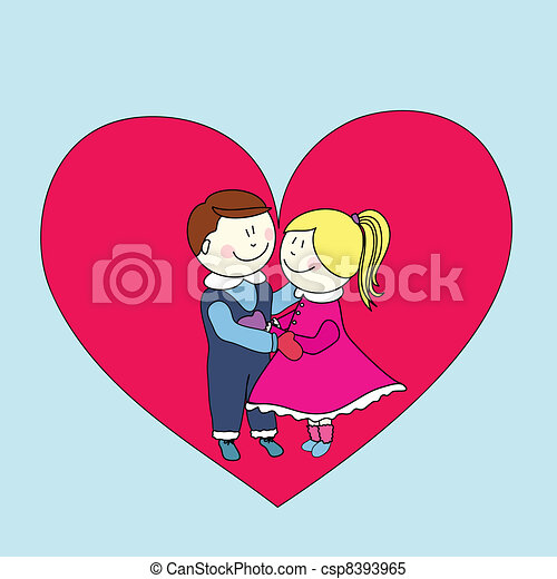 boy and girl, happy valentine's day clipart vector - search, Ideas