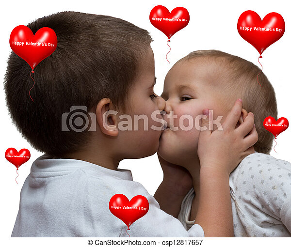 Stock Images Of Boy And Girl Kiss Little Boy Kissing