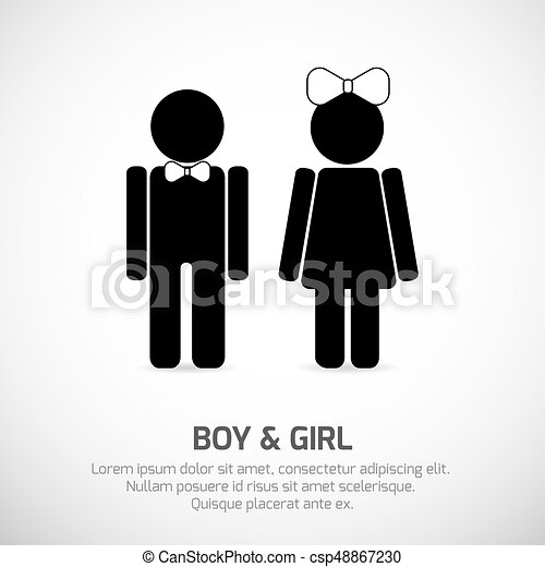 boy and girl restroom sign csp48867230 - Girl Bathroom Sign