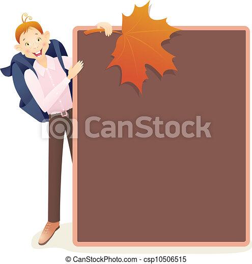 Boy and school board - csp10506515