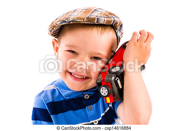Boy and toy car - csp14616884
