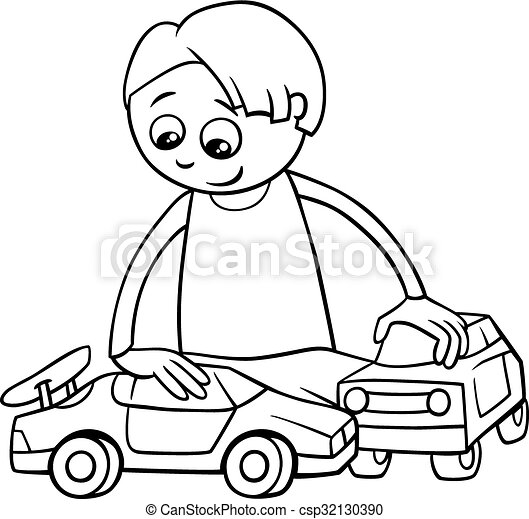 Picking Up Toys Coloring Page
