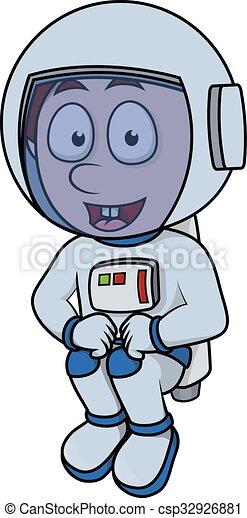 Boy astronaut - csp32926881
