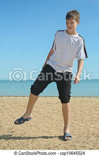boy at the beach, - csp10645524