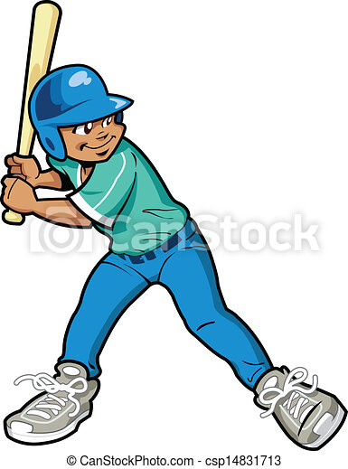 boy baseball batter young boy baseball or softball batter rh canstockphoto com Baseball Player baseball batter clipart free