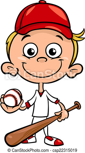 boy baseball player cartoon illustration cartoon vector clip art rh canstockphoto com cartoon baseball bat clipart baseball cartoon clipart