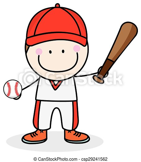 boy baseball player clip art vector search drawings and graphics rh canstockphoto com clipart basketball player baseball player clipart silhouette