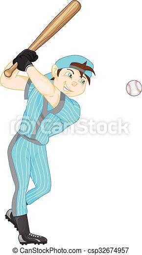 boy baseball player - csp32674957