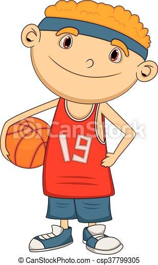 Boy Basketball player cartoon - csp37799305