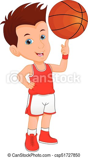 vector illustration of boy basketball player clipart vector search rh canstockphoto com basketball player clipart gif basketball player clipart png