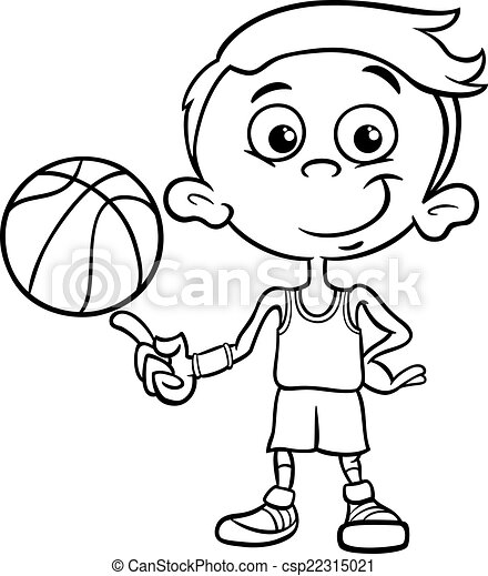 boy basketball player coloring page - csp22315021
