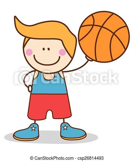 boy basketball player - csp26814493