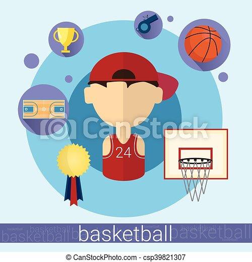 Boy Basketball Player Icon - csp39821307