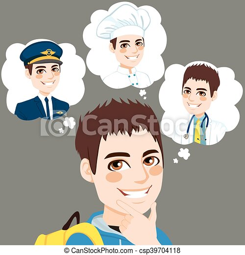 Boy Career Choice - csp39704118
