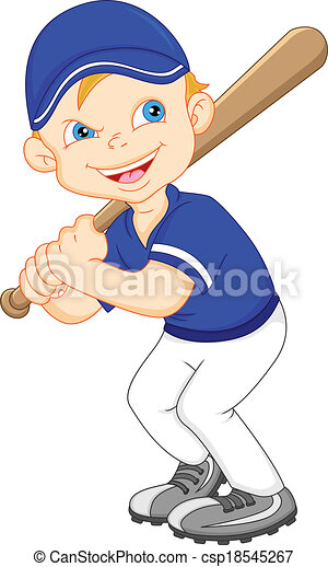 boy cartoon baseball player illustration clip art vector search rh canstockphoto com baseball player swinging bat clip art girl baseball player clip art