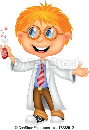 Boy cartoon doing holding reaction - csp17232912