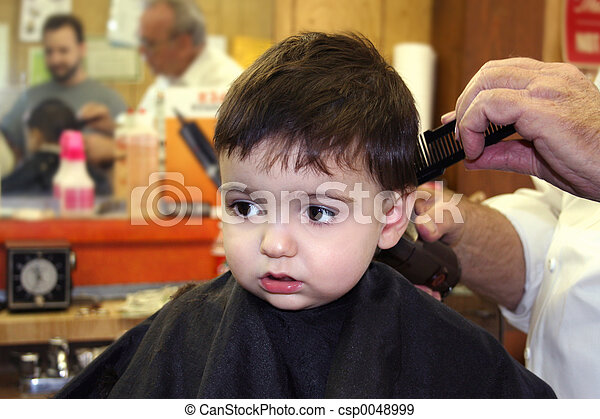 when can a baby get a haircut boy child barbershop toddler boy getting his hair cut at 3804 | boy child barbershop stock photograph csp0048999