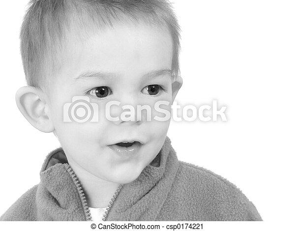 Boy Child Close Up - csp0174221