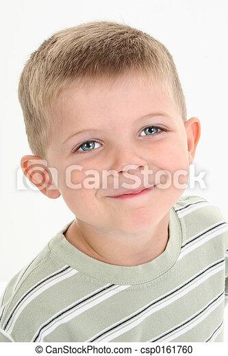 Boy Child Close Up - csp0161760