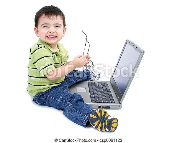 Boy Child Computer - csp0061123