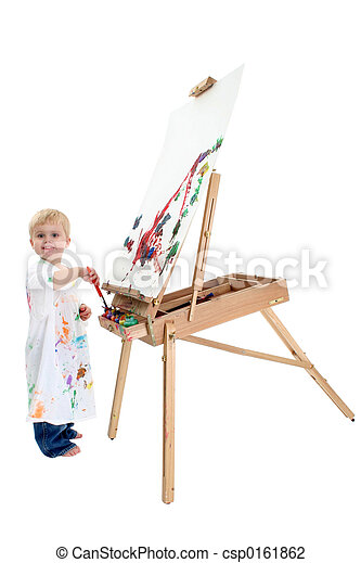 Boy Child Painting - csp0161862