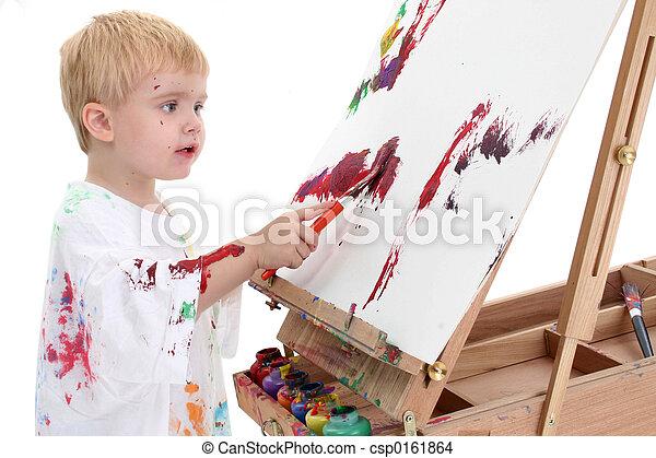 Boy Child Painting - csp0161864
