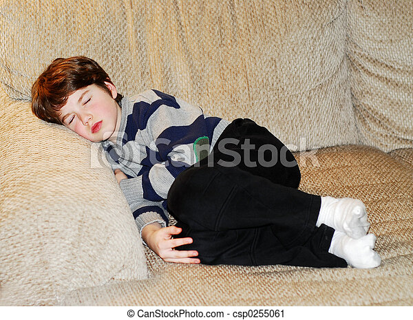 Boy child sleeping - csp0255061