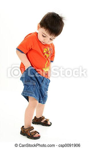 Boy Child Standing - csp0091906