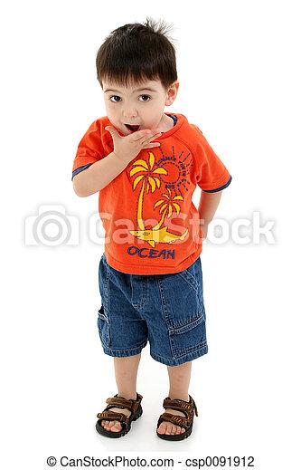 Boy Child Standing - csp0091912