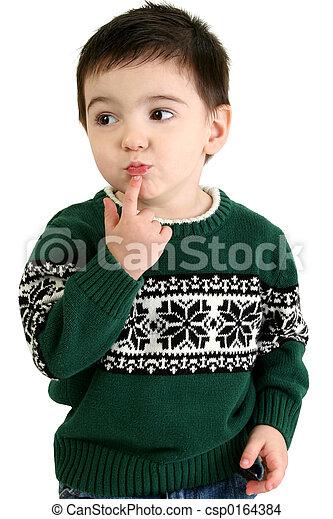 Boy Child Thinking - csp0164384