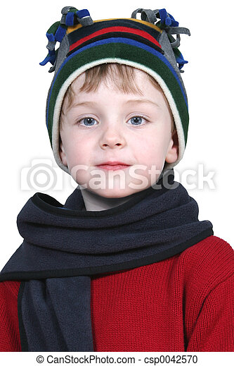 Boy Child Winter - csp0042570