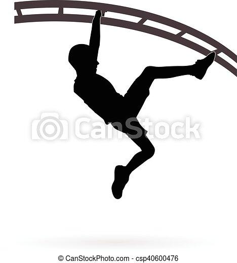 Boy climbing - csp40600476