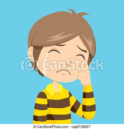 Boy Crying - csp6139427