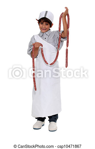 Boy dressed as a butcher - csp10471867