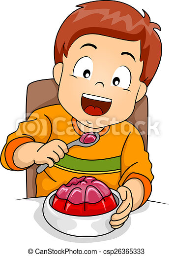 boy eating jelly illustration of a little boy happily drawings rh canstockphoto com eating clipart free clipart eating breakfast