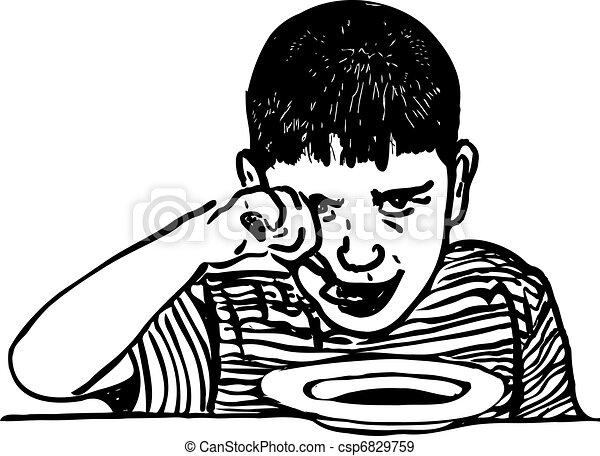 boy eats - csp6829759