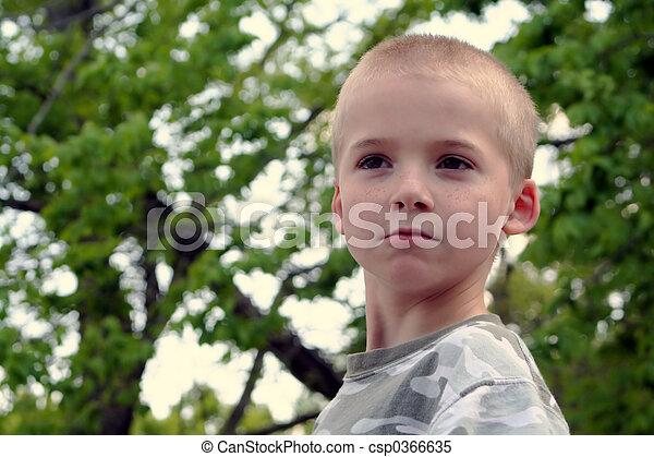 Boy Expressions 5 - csp0366635